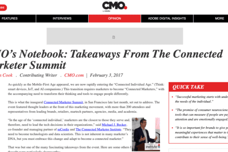 CMO's Notebook: Takeaways From The Connected Marketer Summit