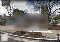 Blurred House on Google Maps